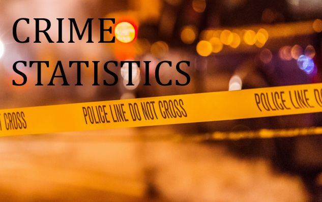 Text Crime Statistics with the police line running across