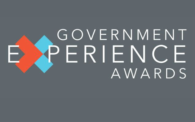 Government Experience Awards Logo over grey background