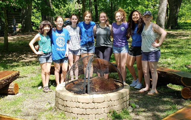 Girl-Scouts-Fire-Pit-Benches
