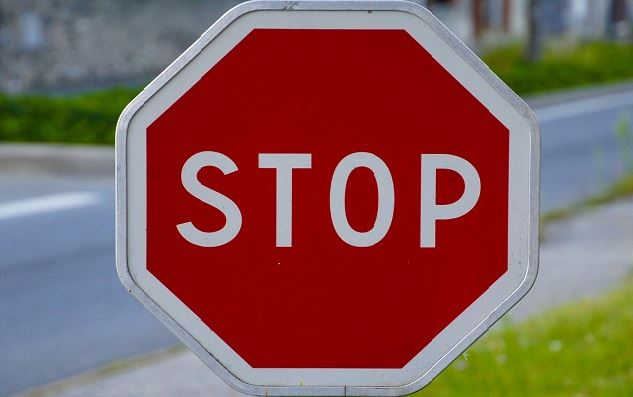 Stop Sign Stock Photo CROPPED