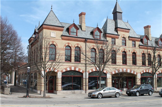 picture of historic arcade building.  a mixed use