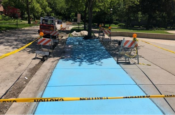 Forest Avenue Sidewalk Work - 6-14-2019