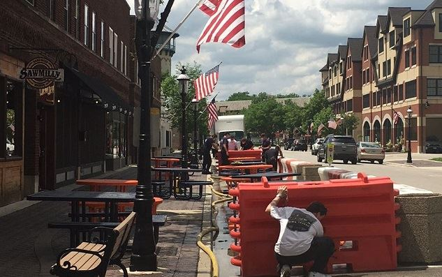 Burlington Street Outdoor Dining - 5-29-2020