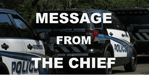 Message from chief