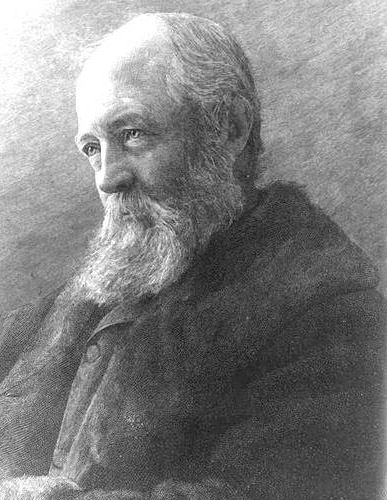 Fredrick Law Olmsted black and white photograph