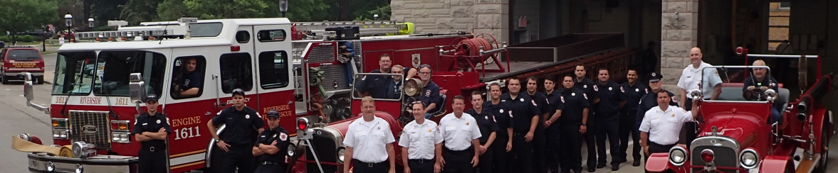 All the Fire Department Staff and Vehicles